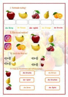 Interactive worksheet Obst