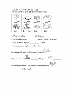 Interactive worksheet Words spelt with ch and sh