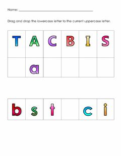 Interactive worksheet Uppercase and Lowercase Letters