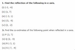 Interactive worksheet Reflection of points in the x-axis