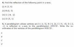 Interactive worksheet Reflection of points in the Y-axis