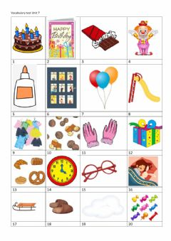 Interactive worksheet Vocabulary test unit 7 Family and friends 2