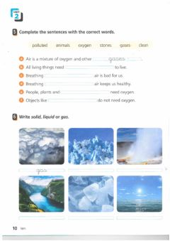 Interactive worksheet Air and water