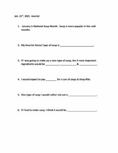 Interactive worksheet Journal 1-21-2021