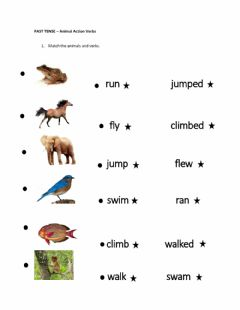 Interactive worksheet PAST SIMPLE - animals action verbs