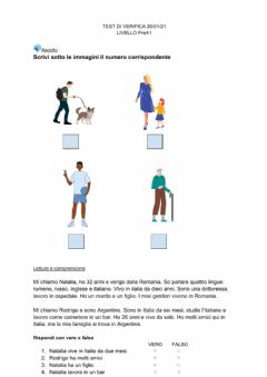 Interactive worksheet Test PreA1