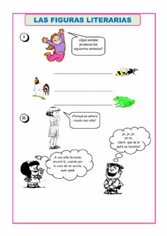 Interactive worksheet Figuras literarias