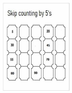Ficha interactiva Skip Counting by 5's
