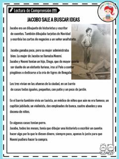 Interactive worksheet Lectura Jacobo sale a...