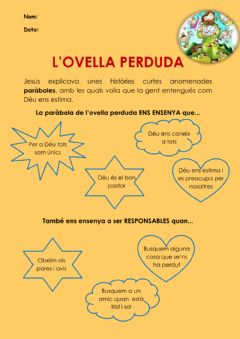 Interactive worksheet L'ovella perduda