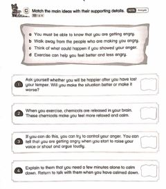Interactive worksheet Match the main ideas with their supporting details (AB page 3)