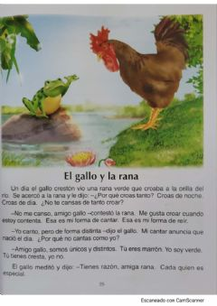 Interactive worksheet El gallo y la rana