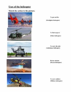 Interactive worksheet Uses of the helicopter