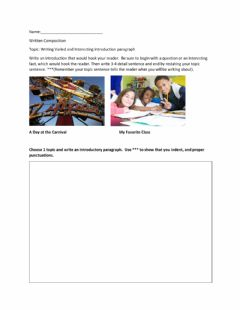 Ficha interactiva Writing Varied and Interesting Introduction paragraph