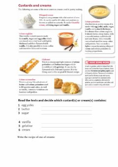 Interactive worksheet Custards and creams