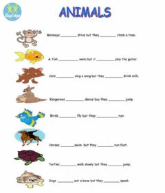 Interactive worksheet L. 6 - can - can't