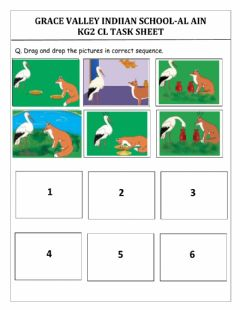 Interactive worksheet Fox and the crane