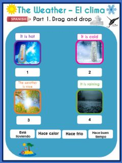 Interactive worksheet The Weather – El clima