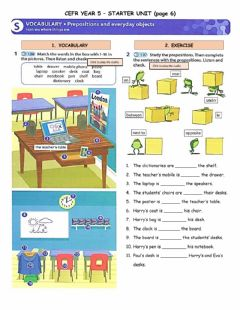 Interactive worksheet CEFR Year 5 Starter Unit - Prepositions (page 6)