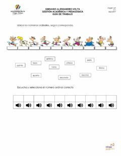 Interactive worksheet Numeri ordinali