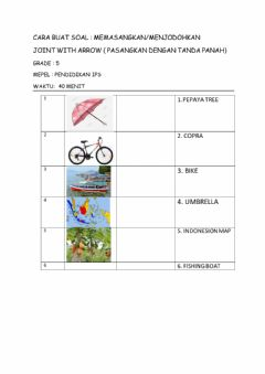 Interactive worksheet Contoh buat soal join with arrow