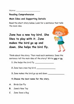 Interactive worksheet Main Idea