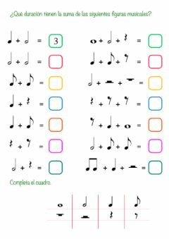 Interactive worksheet Figuras musicales