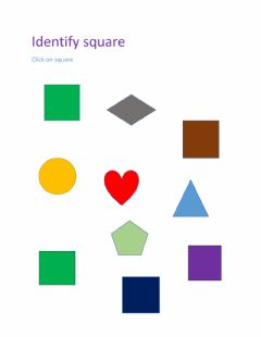 Interactive worksheet Identify square