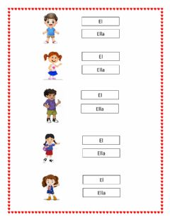 Interactive worksheet El - ella