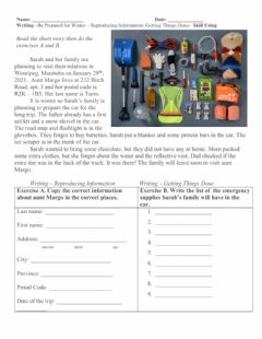Interactive worksheet Being ready for a winter drive