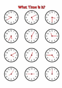 Interactive worksheet (SA) What time is it?
