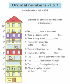 Ficha interactiva Ordinal numbers exercise 1 - numbers first to tenth