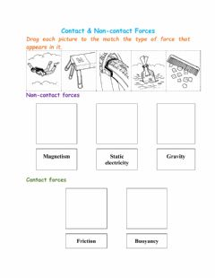 Interactive worksheet Contact & Non-contact Forces