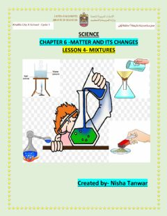 Interactive worksheet Chapter 6 lesson 4 -MIXTURES LAB