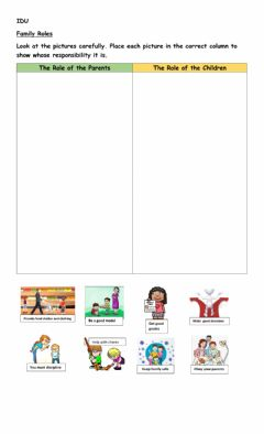 Interactive worksheet The Roles of the Family