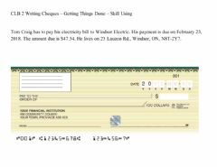 Interactive worksheet Filling out a cheque
