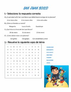 Interactive worksheet Don bosco