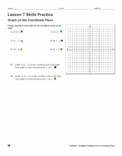 Interactive worksheet Graph coordinate plane