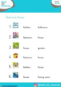 Interactive worksheet Vocaboulary PARTS OF HOUSE