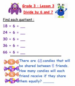 Interactive worksheet Divide by 6