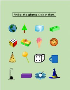 Interactive worksheet 3D Shape- Sphere and Cone