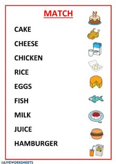 Interactive worksheet Join: vocaboulary foods