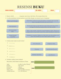 Interactive worksheet Tugas Resensi