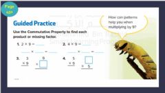 Interactive worksheet Lesson 5: Multiply by 9