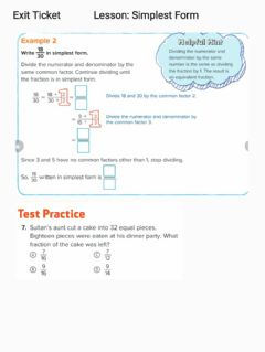 Interactive worksheet G5 Exit ticket Simplest Form