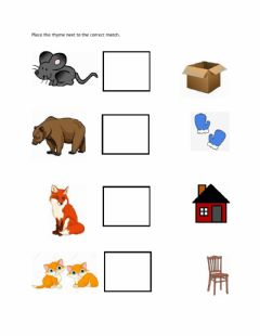 Ficha interactiva Rhyming Words from the story, The Mitten
