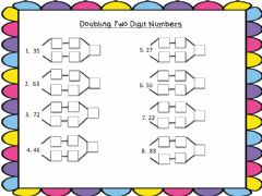 Interactive worksheet Doubling two digit numbers