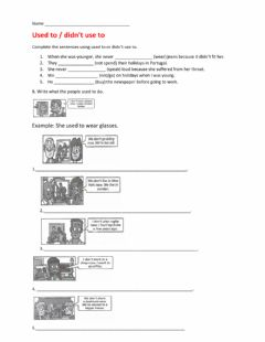 Interactive worksheet Used to - didn't use to