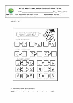 Interactive worksheet MATEMÁTICA1