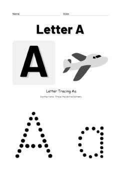 Interactive worksheet Tracing Letter Aa
